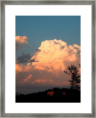 Clouds Over The Cross Framed Print
