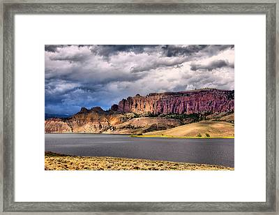 Clouds Over The Dillon Pinnacles Framed Print