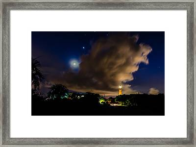 Clouds Over The Lighthouse Framed Print