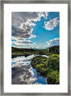 Clouds Over The Moose River Framed Print