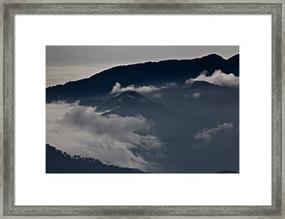 Clouds Over The Mounatins Framed Print