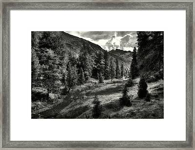 Clouds Over The Mountainscape Framed Print