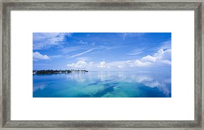 Clouds Over The Ocean, Florida Keys Framed Print by Panoramic Images