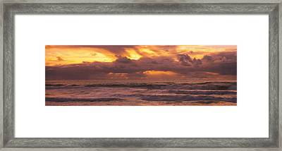 Clouds Over The Ocean, Pacific Ocean Framed Print by Panoramic Images