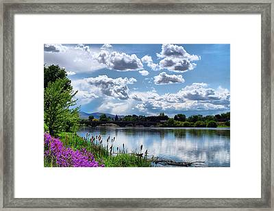 Clouds Over The River Framed Print by Lynn Hopwood
