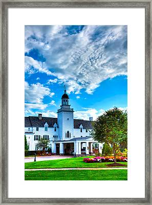 Clouds Over The Sagamore Resort Framed Print by David Patterson