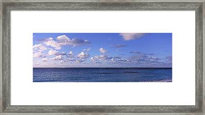 Clouds Over The Sea, Anguilla Framed Print