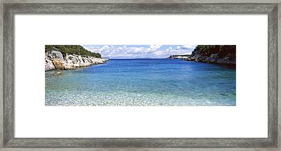 Clouds Over The Sea, Dafnoudi Beach Framed Print