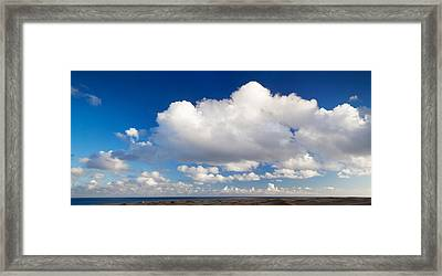 Clouds Over The Sea, Maspalomas, Grand Framed Print by Panoramic Images