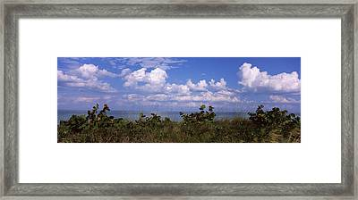 Clouds Over The Sea, Tampa Bay, Gulf Of Framed Print