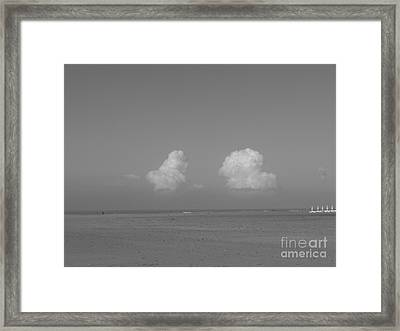 Clouds Over The Sea Framed Print
