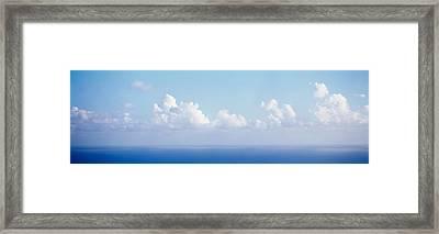 Clouds Over The Sea, Virgin Gorda Framed Print