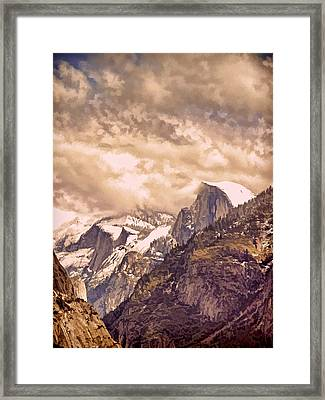 Clouds Over The Valley Framed Print