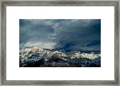 Clouds Over The Wasatch Mountains Framed Print