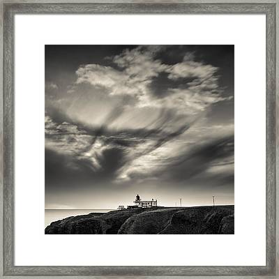 Clouds Over Tod Head Framed Print by Dave Bowman