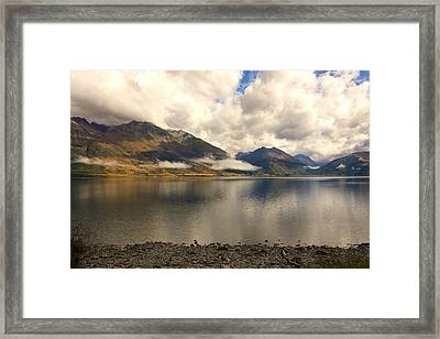 Framed Print featuring the photograph Clouds Over Wakatipu #1 by Stuart Litoff