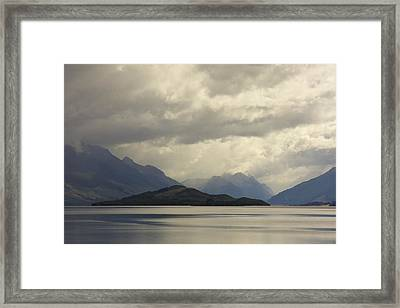 Framed Print featuring the photograph Clouds Over Wakatipu #2 by Stuart Litoff