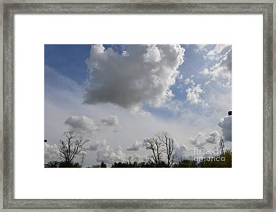 Clouds Over Morris County Framed Print by Michael Keough