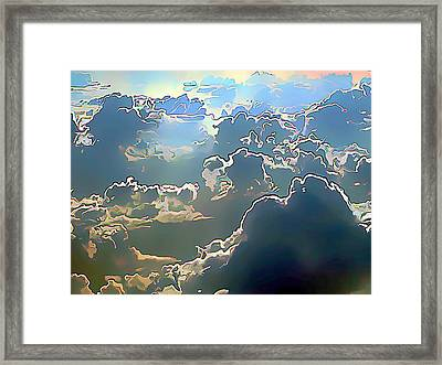 Clouds Painted In Air Framed Print by Wernher Krutein