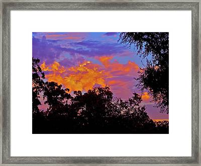 Clouds Framed Print by Pamela Cooper