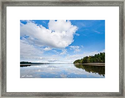 Clouds Reflected In Puget Sound Framed Print