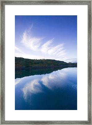 Clouds Reflecting In St.paul Harbor Framed Print