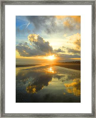 Clouds Reflection By Jan Marvin Framed Print