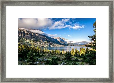 Clouds Roll In Framed Print by Aaron Aldrich