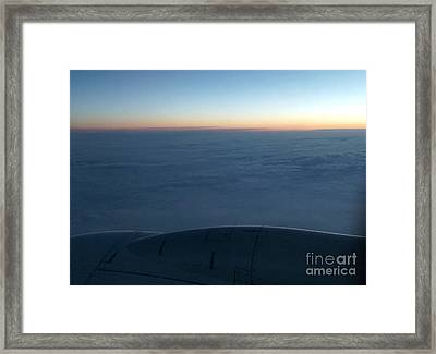 Clouds Roll On Sunset View Framed Print
