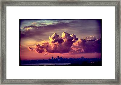 Clouds Rolling Framed Print by Andrei SKY