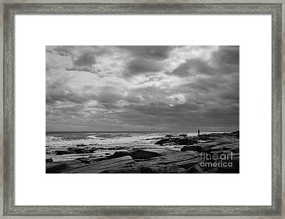 Clouds Rolling In Framed Print by Diane Diederich