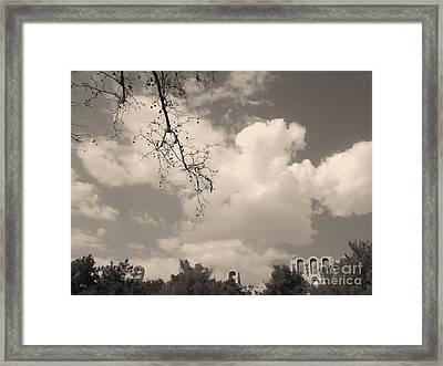 Clouds -shapes In Black-1 Framed Print by Katerina Kostaki