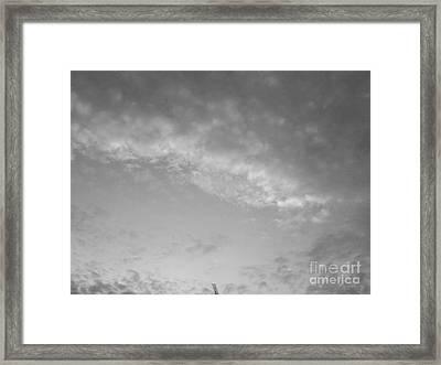 Clouds -shapes In Black-2 Framed Print by Katerina Kostaki