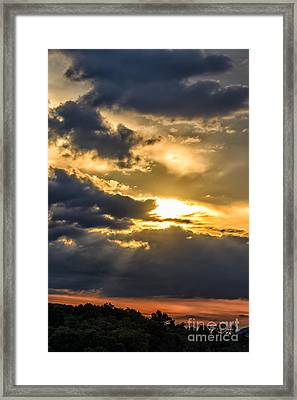 Clouds Sun Rays Framed Print by Thomas R Fletcher