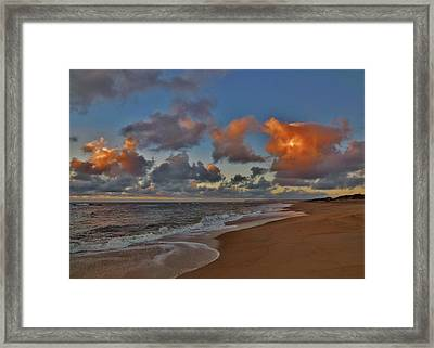 Clouds Sunrise And Pier 4 10/01 Framed Print by Mark Lemmon