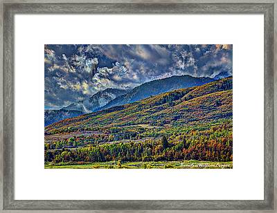 Clouds Sweating On Autumn Framed Print by Brenton Cooper