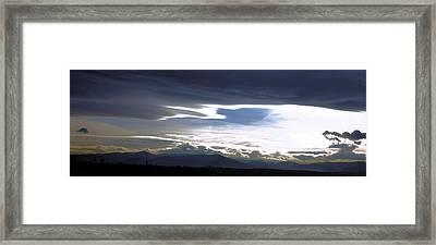 Clouds Vs. Sun Framed Print