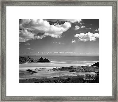 Cloudscape At Three Cliffs Framed Print