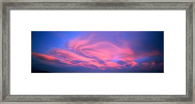 Cloudscape Canterbury New Zealand Framed Print by Panoramic Images