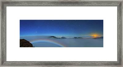Cloudscape From Haleakala National Park Framed Print
