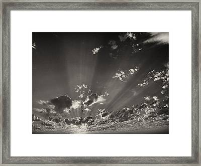 Cloudscape Framed Print by Tom Druin