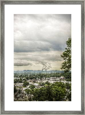 Cloudy At The Fairview Framed Print