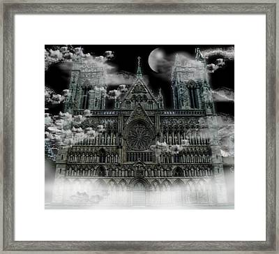 Framed Print featuring the photograph Cloudy Cathedral by Digital Art Cafe