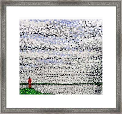 Cloudy Conversation Framed Print by Alan Hogan