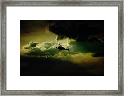 Cloudy Copper Framed Print
