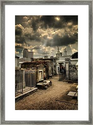 Cloudy Day At St. Louis Cemetery Framed Print