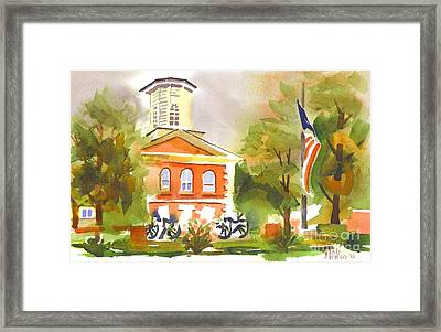 Cloudy Day At The Courthouse Framed Print by Kip DeVore