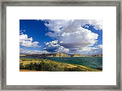Cloudy Day Framed Print by Barbara Zahno