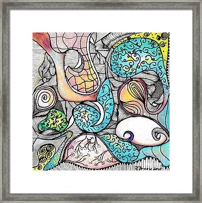 Cloudy Day Color Play Framed Print