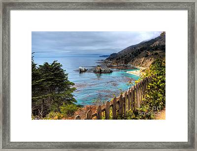 Cloudy Day In Big Sur Framed Print